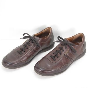 MEPHISTO AIR-JET BROWN LEATHER LACE UP SHOES 12